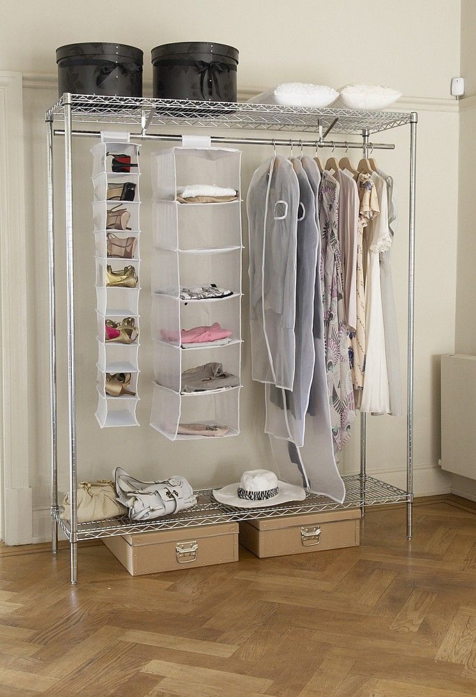 This Industrial Chrome Wardrobe Can Withstand Any Amount Of Clothing You  Load It With Without Complaint. Clothes Storage SolutionsStorage ...
