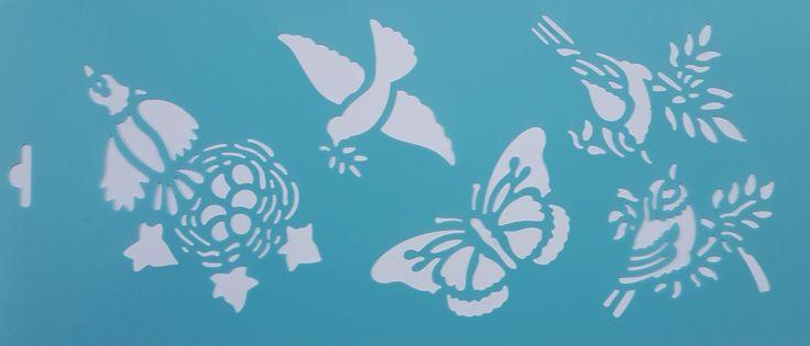 vogel vlinder sjabloon