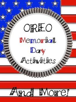 What student doesn't love learning when food is involved? Especially Oreos! Whether you want to have an entire day's celebration of Memorial Day or an entire week, this package has you covered! With 40+ pages covering math, language arts and social studies topics you can choose to pack all of the activities into one day or spread them out over the week.