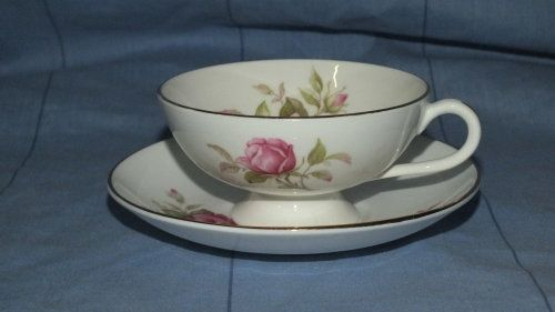 Buy Cup and Saucer - Duo - Pink Rose and Gold Rimmed - Made In England - Bone China for R195.00