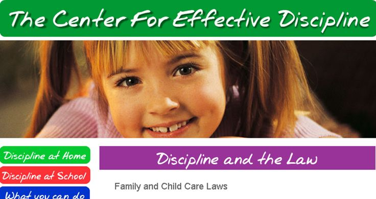 Laws Defining Acceptable Discipline in Child Care