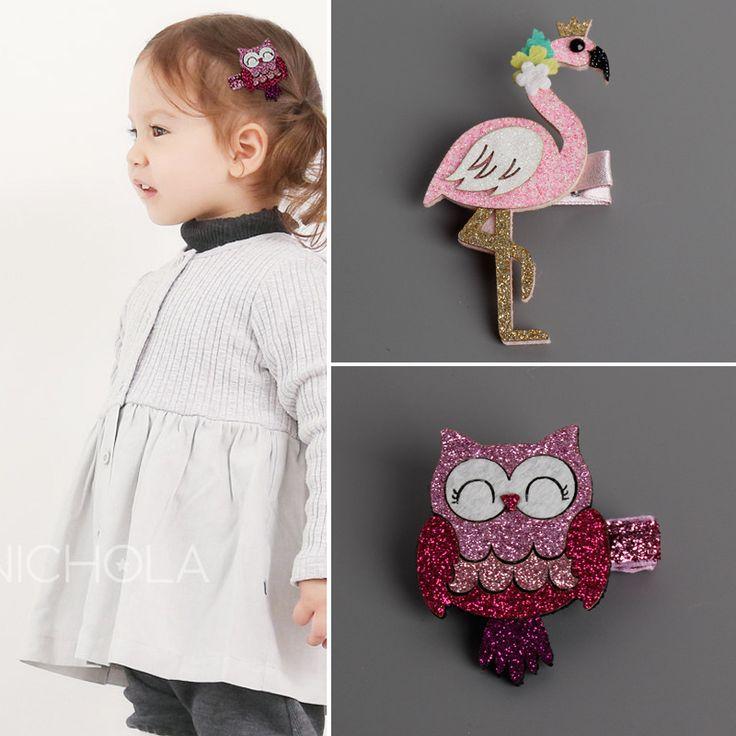 Mode Leuke Cartoon Flamingo En uil Baby Haarspelden kids Haar Clips Kinderen Hoofddeksels Prinses Baret Meisjes Haaraccessoires
