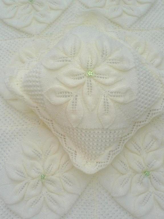 BABY KNITTING PATTERN  Crib//Pram//Cover Blanket por carolrosa