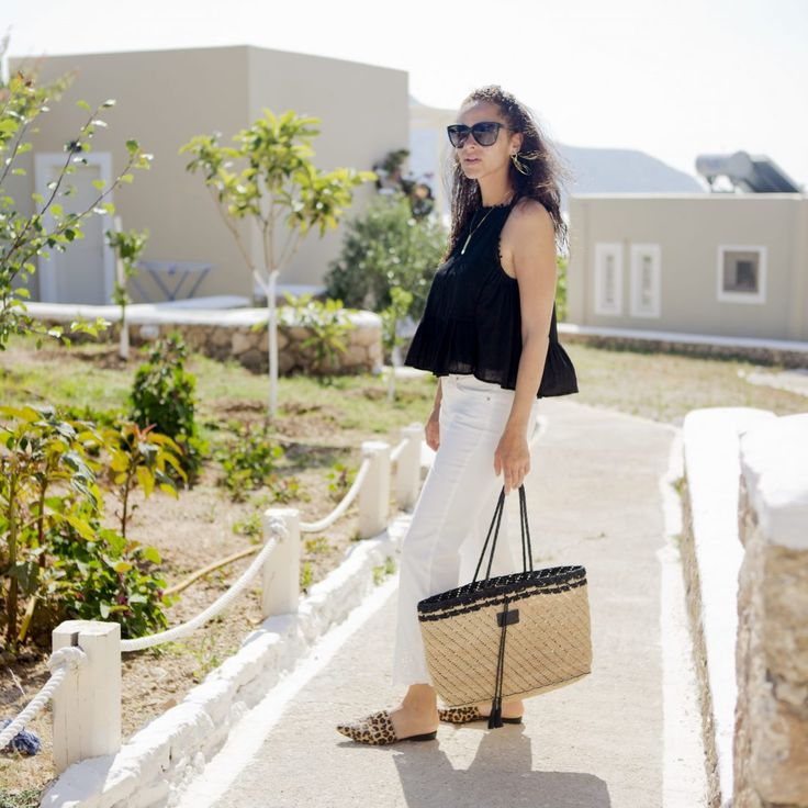 Outfit - Oui Fashion pants and Seafolly top - Les Berlinettes
