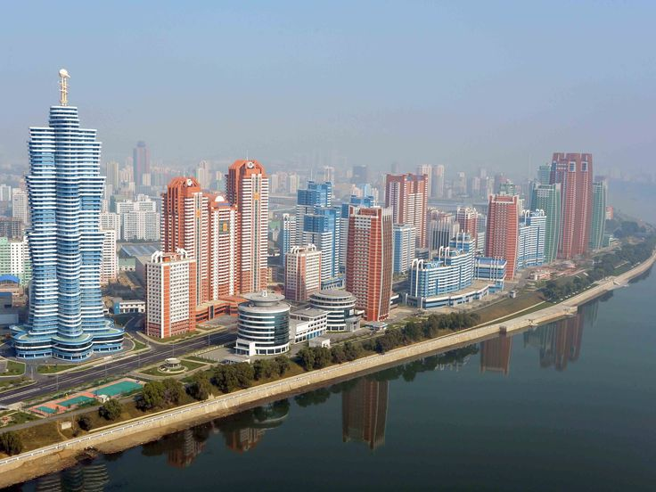 Pyongyang, North Korea. Weird looking place, I think .