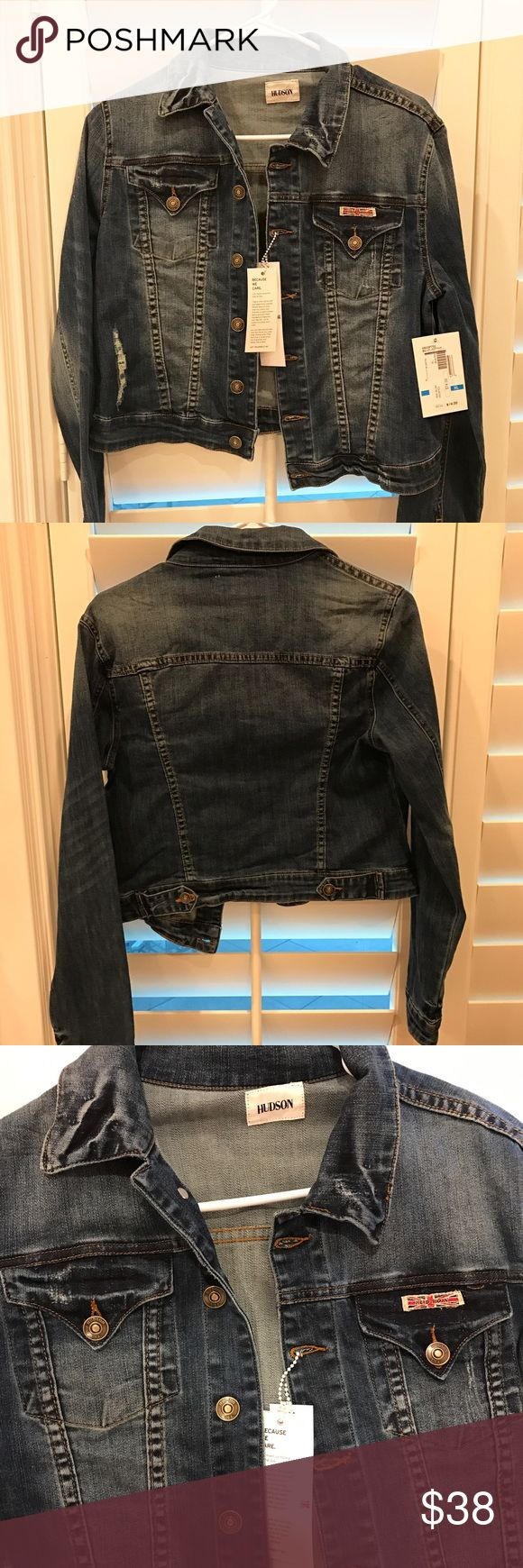 Hudson Jean Jacket Supper cute kids XL Hudson jean jacket! I am 5feet 3inches tall, size XS woman's and it's a little big on me! Great price and needs a good home! Hudson Jeans Jackets & Coats Jean Jackets