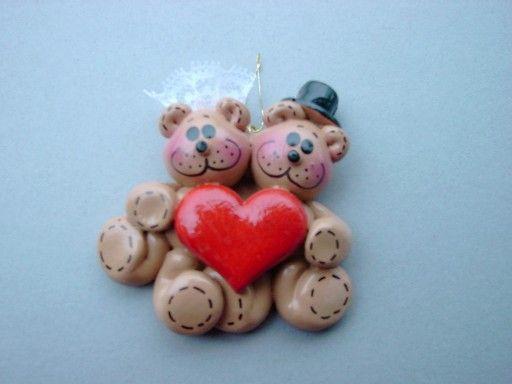 Teddy Wedding Couple ornament