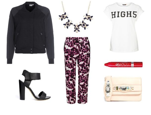 Spring essentials #palazzo pants and #bomber