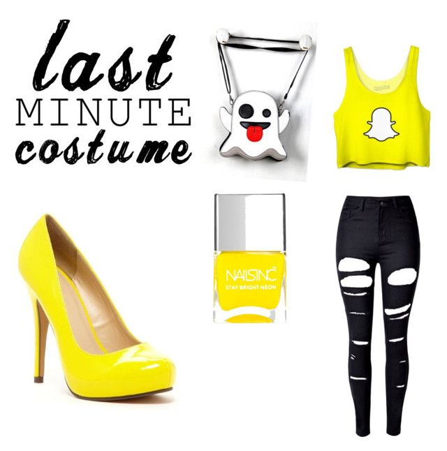 """""""Snapchat Halloween outfit"""" by slashbat on Polyvore featuring WithChic, Michael Antonio, Nails Inc., Halloween, contest, halloweencostume and snapChat"""