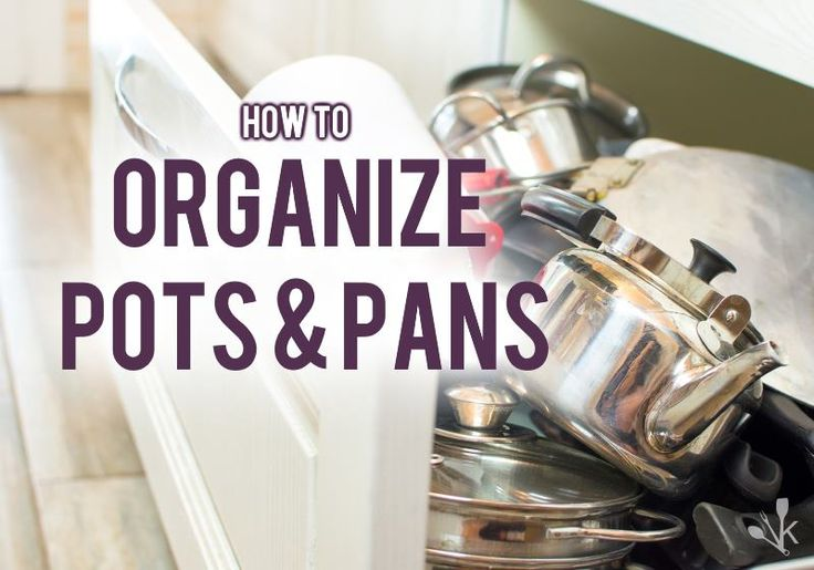 Here are 3 great ways to organize pots and pans to prevent scratches!