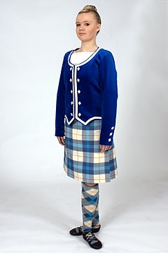 Kilt with royal blue jacket #musselburgh #blue #tartan