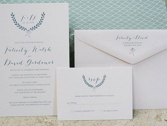 Digital wedding stationery – wreath