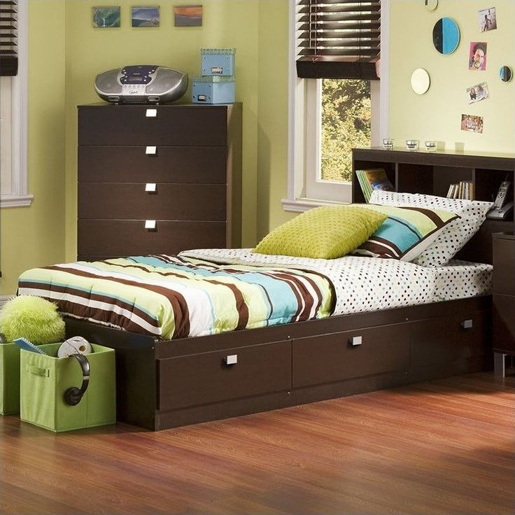 south shore cakao kids bedroom set with bookcase headboard twin chocolate find this pin and more on twin bed