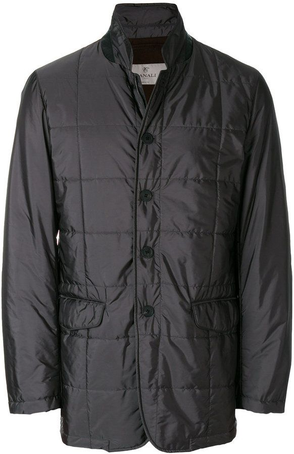 Canali quilted short coat