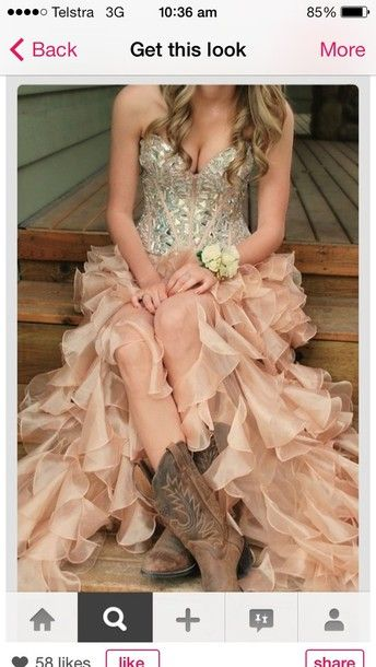 vintage country dresses with boots | dress country dress boots pink ruffles cowgirl country beautiful edit ...