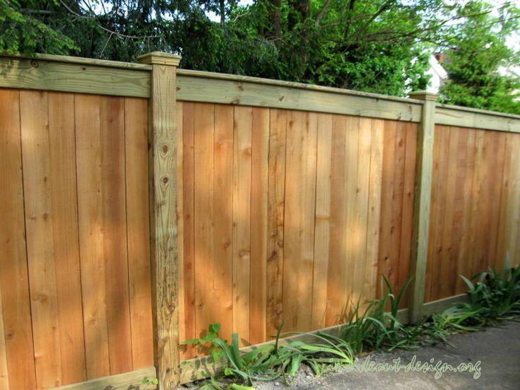 Custom Cedar Fence For The Home Pinterest