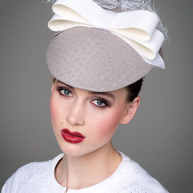 Grey and white visor. Designed for Hugo Boss, Spring 2014 | Louise MacDonald, Melbourne