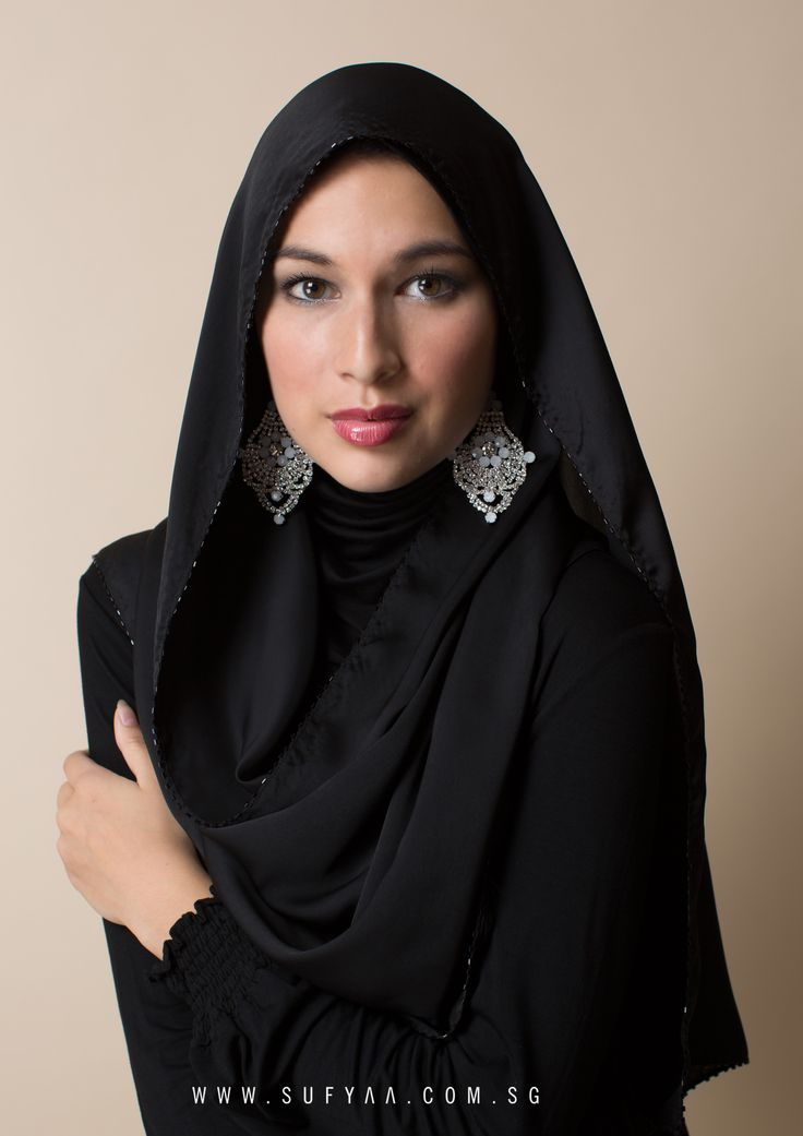 Satin Beaded Instant Shawl With Attached Full Inner