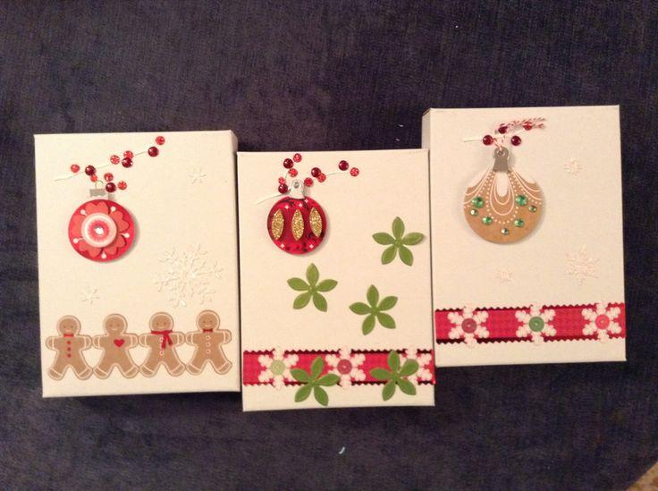 Infinidad de posibilidades con stieckers y papeles para decorar estas cajitas de carton