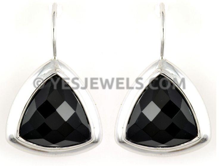 #oniks taşlı gümüş küpe güvenli takı alışveriş sitesi YesJewels.com`da!