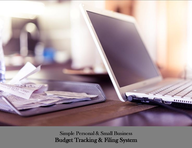 Simple Personal & Small Business Receipt Organization Idea for Bookkeeping & Budget Tracking