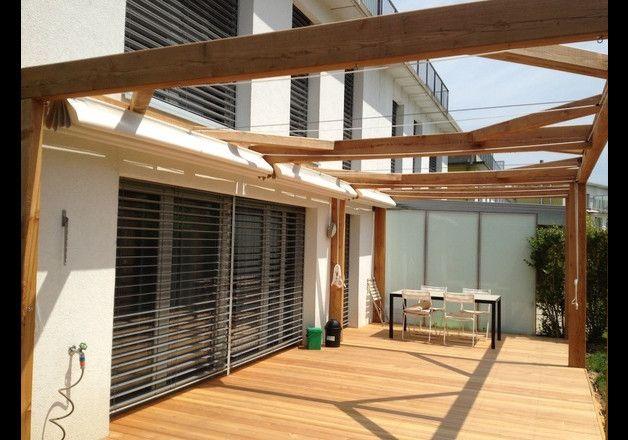 Zadaszenie do pergoli typu Pergotenda - pracowniaart - Balkon