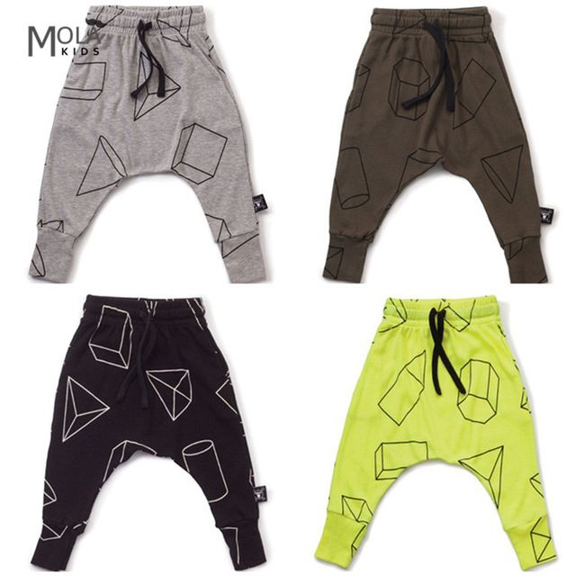 2017 Moda Kikikids Nununu Niños Niñas Pantalones de Harén Niños Pantalones Largos Harem Pantalones de Niño de la Marca Infantil Maka Niños Harenes Pantalones