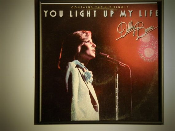 Glittered Record Album  Debby Boone  You Light Up My by GlitterFX, $50.00
