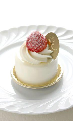 A pretty little pastry with a pretty raspberry garnish.