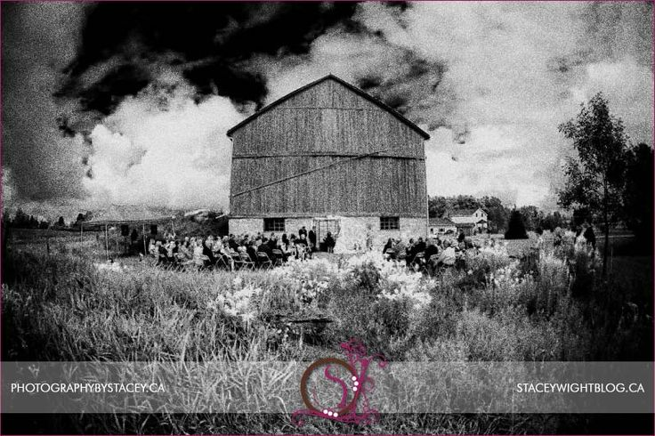 Infrared look for a barn wedding.