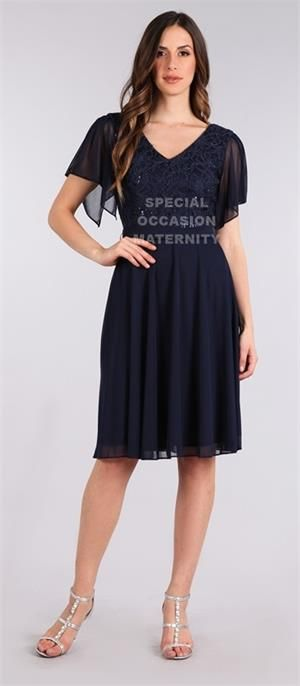 Cocktail Navy Blue Maternity dress.