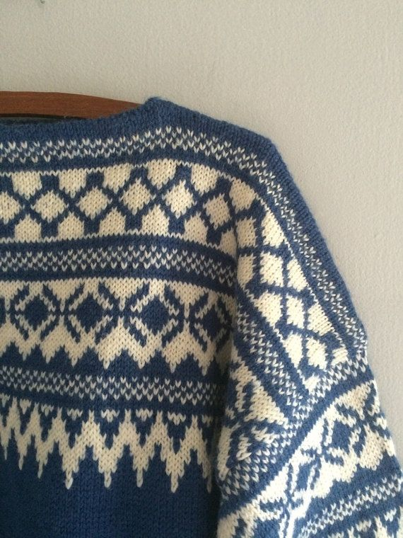 Vintage norwegian wool sweater / ski sweater / by cashmerevintage