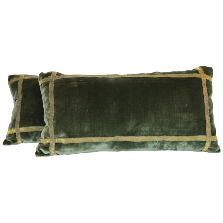 French Silk Velvet Pillows, Early 20th Century | From a unique collection of antique and modern pillows and throws at https://www.1stdibs.com/furniture/more-furniture-collectibles/pillows-throws/