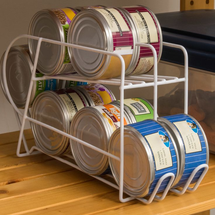 5 5 Ounce Wire Can Dispenser For Canned Cat Food Storage