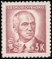 Znaczek: Dr. Edvard Beneš (1884-1948), president (Czechosłowacja) (Portraits) Mi:CS 469,Sn:CS 297,Yt:CS 411,AFA:CS 325,POF:CS 422