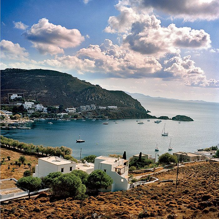 Patmos, Greek Island Psili Amos, a secluded beach accessible only by boat (or a 20-minute hike over a few hills) all to yourself.