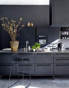 1000 idee n over zwarte muren op pinterest zwart geschilderde muren muren met een zwart - Deco keuken chique platteland ...