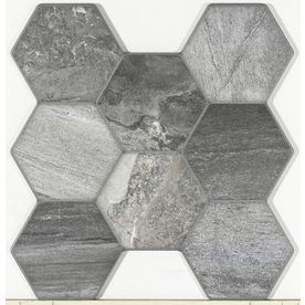 Shop FLOORS 2000 Vesta 7-Pack Stone Porcelain Floor and Wall Tile (Common: 17-in x 18-in; Actual: 17.75-in x 17-in) at Lowes.com