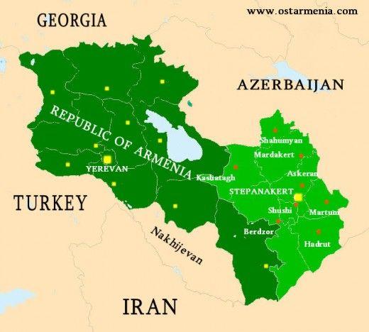 Map Armenia Neighboring Countries - Map argentina neighboring countries