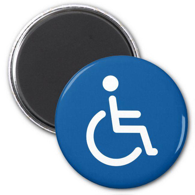 Disabled Symbol Magnet Zazzle Com Custom Parking Sign Custom Holiday Card Custom Magnets
