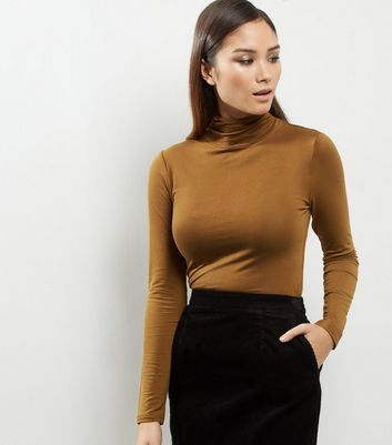 Olive Green Turtle Neck Long Sleeve Top