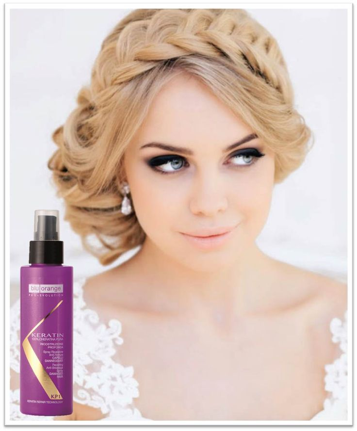 Crown style for your wedding day! http://www.bluorange.it/en/not-only-beauty/hair-trends-for-brides-of-2015 #bluorange #hair #keratin #braid #weddingday #wedding #weddinghairstyle #hairstyle #hair #style #beauty #crown