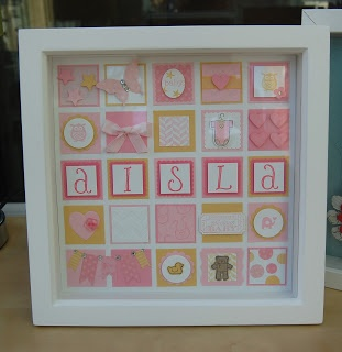 Julie's Japes - An Independent Stampin' Up! Demonstrator in the UK: Another baby frame!