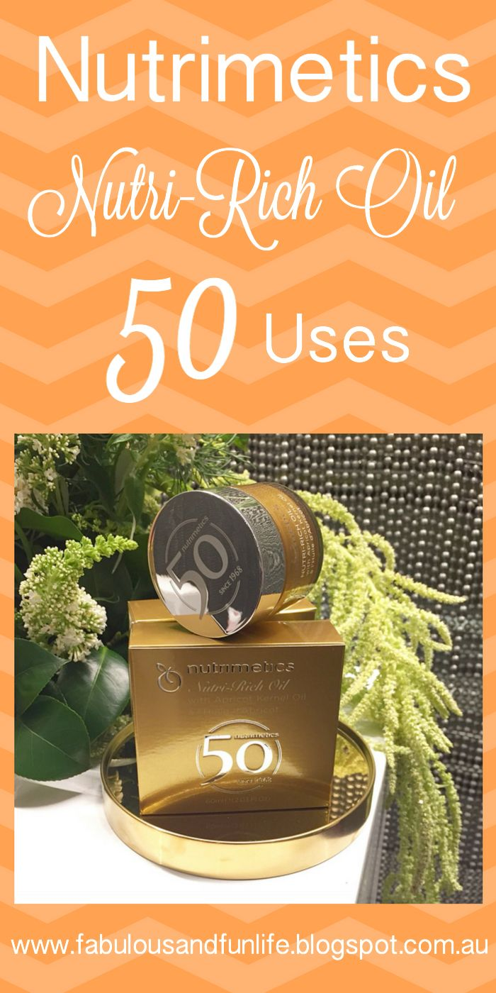 Fabulous and Fun Life: 50 uses for Nutrimetics Nutri-Rich Oil! Such a versatile and multi-tasking product! Click on this pin to discover what these 50 uses are!