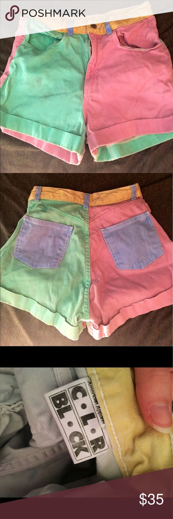 Vintage American apparel pastel shorts Vintage American apparel pastel shorts in great condition! Only wore them a few times so they still are like new. American Apparel Shorts Jean Shorts