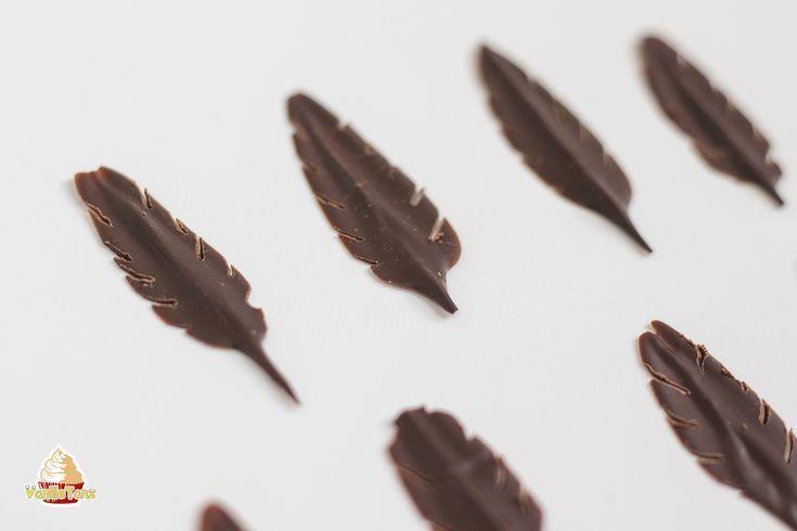 Tutorial, wie man Schokoladenfedern einfach zu Hause macht. Diese F … – Backen …