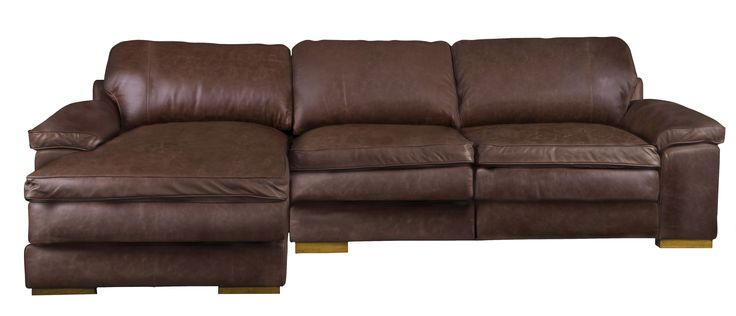 Lazy Loafer chaise in vintage brown