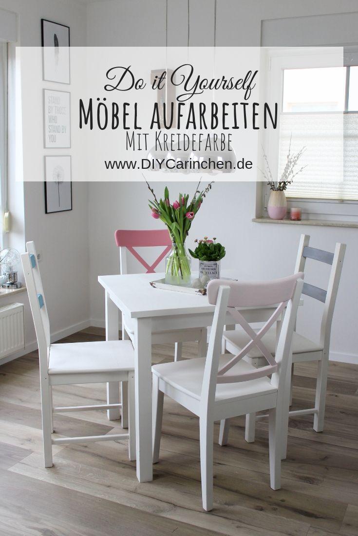 DIY: Alte Möbel aufarbeiten und neu streichen mit Kreidefarbe von Rust-Oleum – farbenfrohes M…
