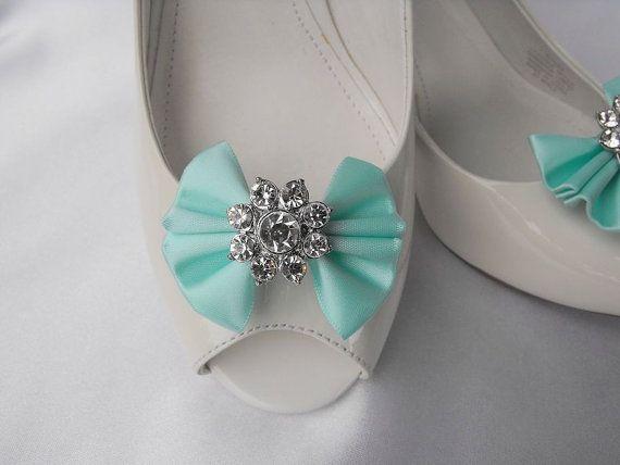 Clips chaussures bow à la main avec strass par enjoythecreation, $18.00