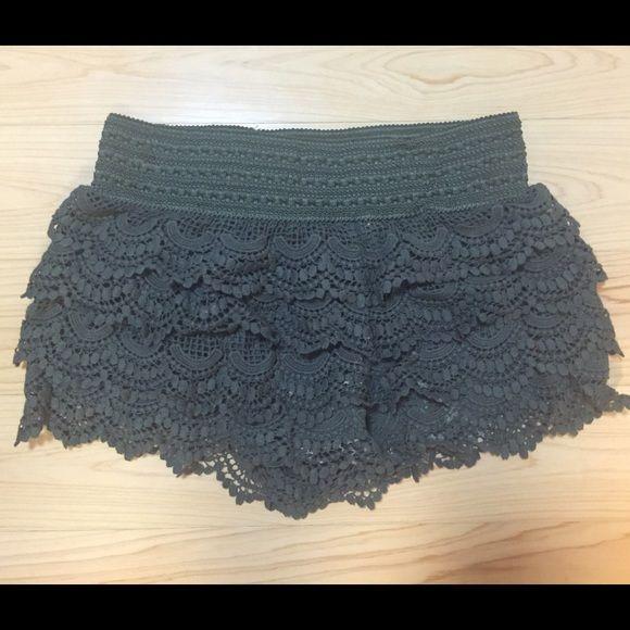 American Rag Olive Shorts/Skirt Cute and stylish olive shorts/skirt flowery/flowy style American Rag Shorts Skorts